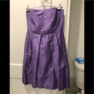 JCREW Purple raw silk dress size 8